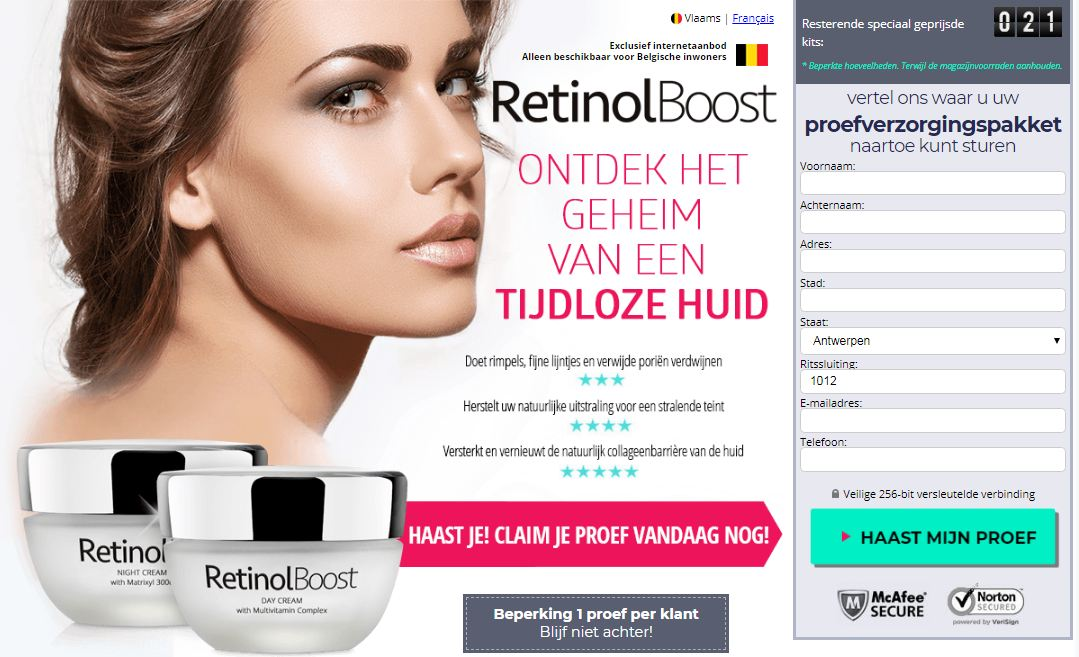 Retinol Boost Belgique